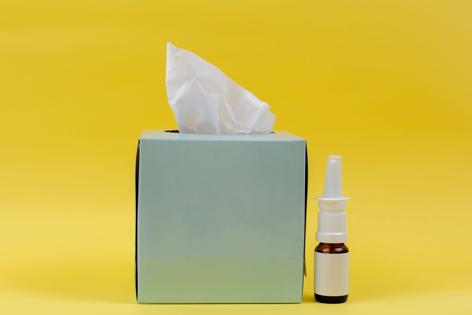 image of tissue box and allergy medication